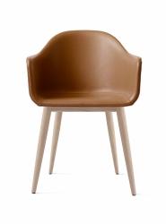 Menu HARBOUR Krzesło - Rama Dąb Naturalny - Siedzisko Brązowa Skóra