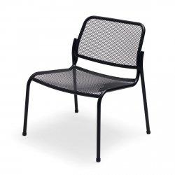 Skagerak MIRA Krzesło Ogrodowe LOUNGE - Czarne