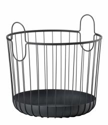 ZONE Denmark INU Metalowy Kosz do Przechowywania 40 cm Czarny