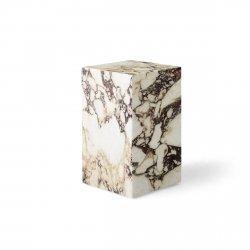 Menu PLINTH Postument Marmurowy Wysoki - Marmur Rose Calacatta