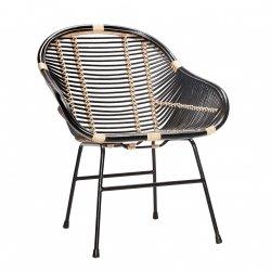 Hübsch NATURE Krzesło Rattanowe - Czarne