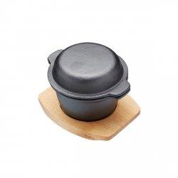 Kitchen Craft ARTESA Naczynie Żeliwne Mini z Pokrywką i Deską do Serwowania
