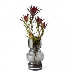 Philippi CITY Szklany Wazon do Kwiatów 18 cm Szary