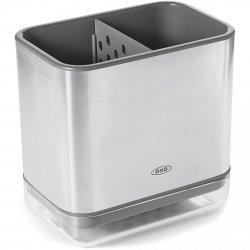 OXO Good Grips - Pojemnik z Ociekaczem na Przybory do Zmywania - Stalowy