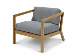 Skagerak VIRKELYST Krzesło - Fotel + Poducha Szara