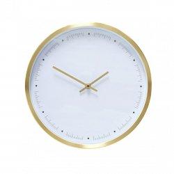 Hübsch CLOCK Zegar Ścienny 30 cm Złoty