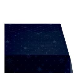 Sodahl CHRISTMAS STELLA Obrus Świąteczny na Stół 140x180 cm Granatowy
