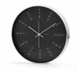 Philippi TEMPUS Zegar Ścienny 25 cm Czarny Love