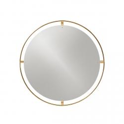 Menu NIMBUS Okrągłe Lustro Ścienne 60 cm Rama Mosiądz Polerowany - Odcień Złoty