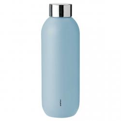 Stelton KEEP COOL Stalowa Butelka do Wody 600 ml Niebieska Cloud