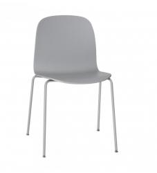Muuto VISU TUBE BASE Krzesło Drewniane na Stalowej Ramie - Szare