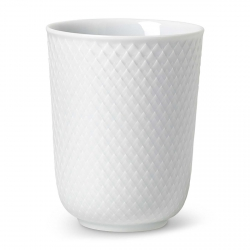 Lyngby Porcelain RHOMBE Kubek bez Ucha 330 ml Biały
