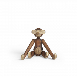 Kay Bojesen MONKEY Figurka Drewniana Małpka MINI Drewno Tekowe
