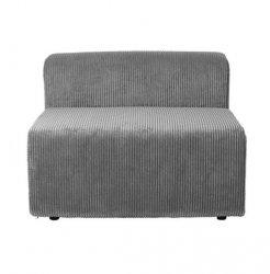 Broste Copenhagen LAKE Kanapa - Sofa Modułowa - Moduł Pojedynczy Krótki - Tkanina Sztruks Ciemnoszary