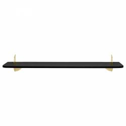 Aytm AEDES Półka Ścienna 80 cm Czarna - Uchwyt Złoty