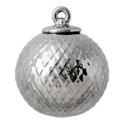 Lyngby Porcelain RHOMBE Bombka Porcelanowa - Srebrna