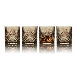 Lyngby Glass MELODIA Kryształowe Szklanki do Whisky, Drinków 310 ml Czarne