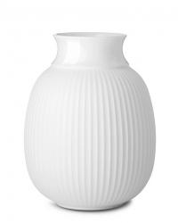 Lyngby Porcelain CURVE Wazon do Kwiatów 17,5 cm Biały