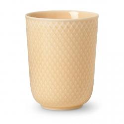Lyngby Porcelain RHOMBE COLOR Kubek bez Ucha 330 ml Piaskowy Sand