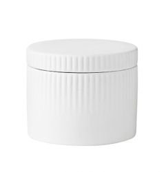 Stelton PLEAT Porcelanowy Pojemnik na Sól - Biały