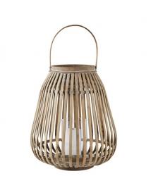Villa Collection HURRICANE Lampion 35 cm Bambusowy