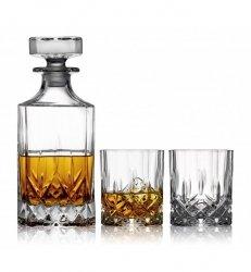 Lyngby Glass MELODIA Kryształowa Karafka i Szklanki do Whisky 310 ml 3 El.