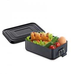 Küchenprofi TO GO Lunchbox - Metalowy Pojemnik na Lunch, Drugie Śniadanie - Czarny