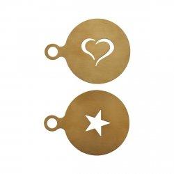 Nicolas Vahe COFFEE Szablony - Dekorator do Kawy 2 Szt. Złoty
