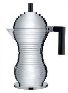 Alessi PULCINA Kawiarka - Zaparzacz do Espresso 300 ml - Czarna Rączka