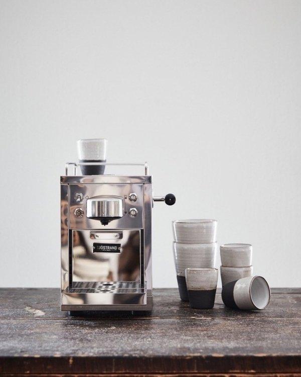 Sjöstrand ESPRESSO Ekspres ze Stali Polerowanej do Kawy w Kapsułkach (Kompatybilny z Nespresso)