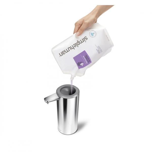 Simplehuman SENSOR Stalowy Automatyczny Dozownik do Mydła, Płynu, Żelu Antybakteryjnego - Akumulatorowy 266 ml Srebrny Połysk