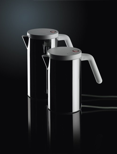 Alessi HOT.IT Czajnik Elektryczny 1,4 l - Polerowany/Biały