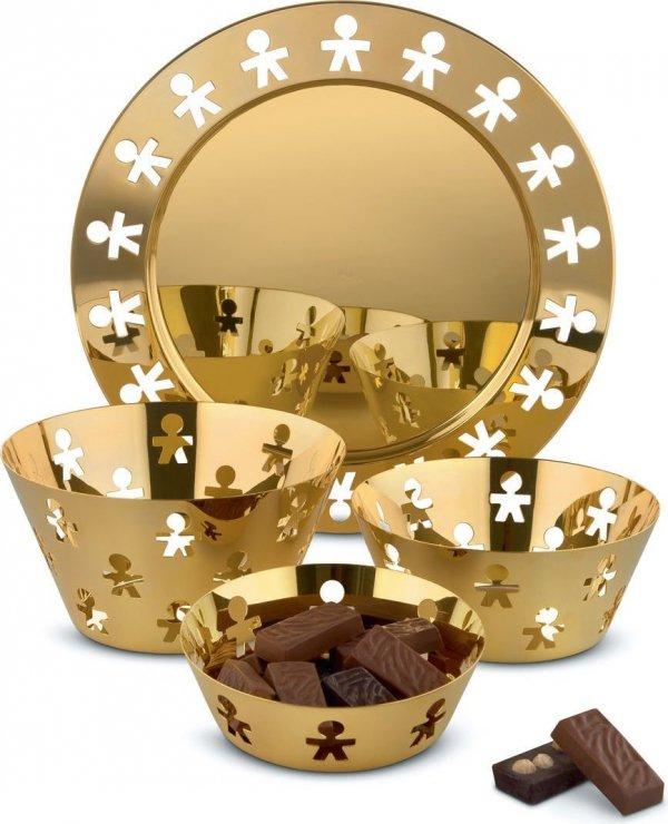 Alessi GIROTONDO Taca Okrągła 40 cm Gold - Złota