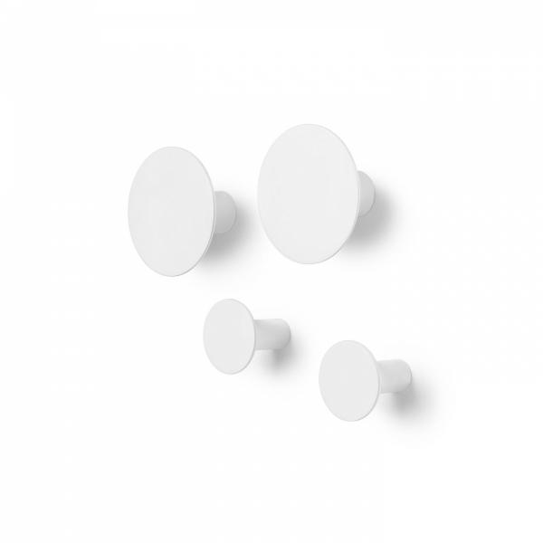 Blomus PONTO Wieszak Ścienny - Zestaw 4 Wieszaków - Odcień Biały
