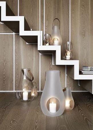 Holmegaard DESIGN WITH LIGHT Lampion - Świecznik Transparentny 25 cm