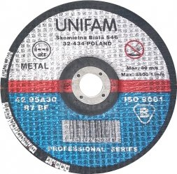 Tarcza do metalu 125x3,2 UNIFAM