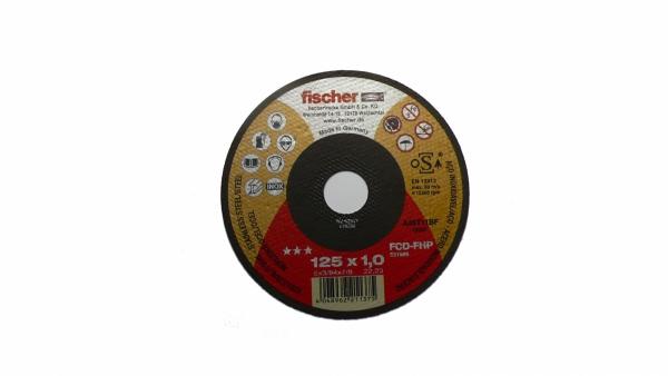 Tarcza do stali nierdzewnej - inox 125x1,0 FISCHER