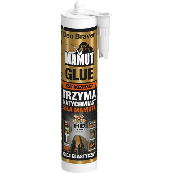 Klej montażowy Den Braven MAMUT 290 ml elastyczny biały