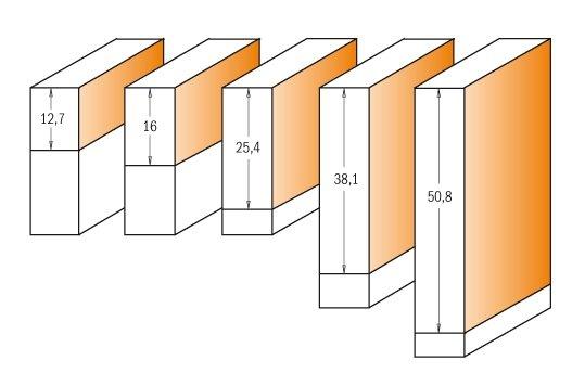 Frez prosty I12,7 D9,5 L55,5 S8 CMT 906.096.11