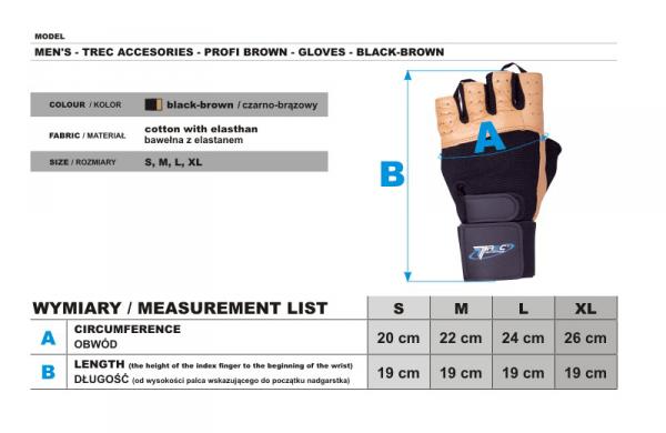 Trec Profi Brown Gloves