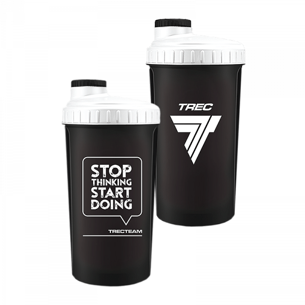 Trec Shaker 0,7 l BLACK-WHITE - STOP THINKING START DOING