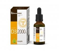 Bene Vobis - Witamina D3 2000IU w oleju konopnym - 30 ml
