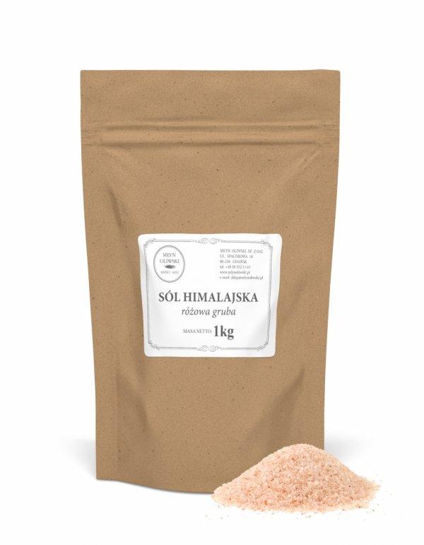 Sól himalajska różowa - gruba (3-5 mm) - 1kg