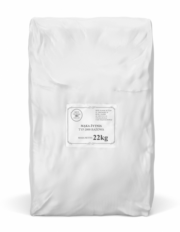 Mąka żytnia typ 2000 (razowa) - 22kg