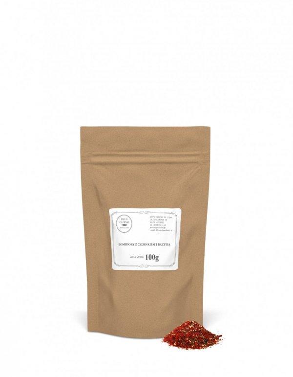 Pomidory z czosnkiem i bazylią - 250g