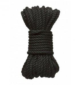 Kink Hogtied Bind & Tie 6mm Black Hemp Bondage Rope 30 Feet