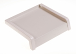 Parapet zewnętrzny stalowy blaszany biały 175mm 1mb