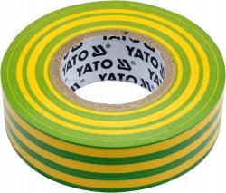 Taśma elektroizolacyjna 19mm 20m zół-zi YATO 81655