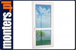 Drzwi balkonowe PCV 865x2295 Aluplast R lewe białe