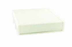 Parapet wewnętrzny plastikowy PCV biały 500mm 1mb